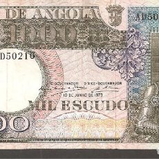 Billetes extranjeros: ANGOLA 1.000 ESCUDOS 10 JUNIO 1973. Lote 288651463