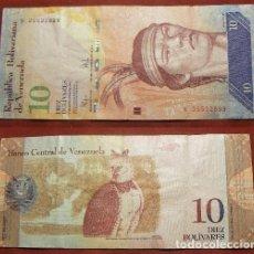 Billetes extranjeros: BILLETE DE VENEZUELA 10 BOLIVARES 2009 CIRCULADO. Lote 288747218