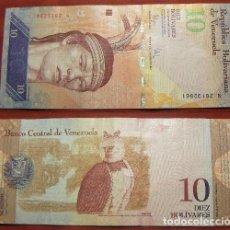 Billetes extranjeros: BILLETE DE VENEZUELA 10 BOLIVARES 2009 CIRCULADO. Lote 288747238
