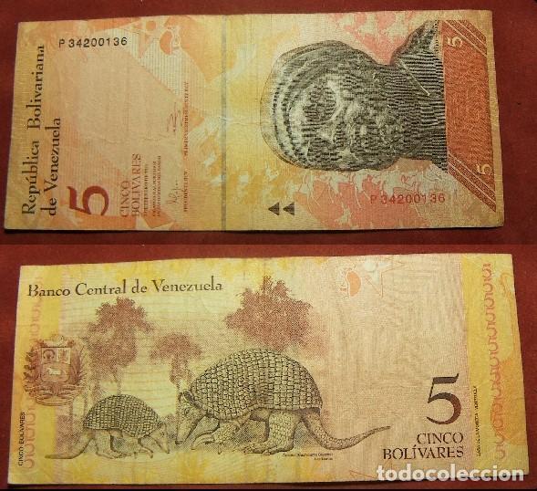 BILLETE DE VENEZUELA 5 BOLIVARES 2011 CIRCULADO (Numismática - Notafilia - Billetes Internacionales)