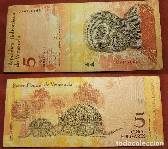 BILLETE DE VENEZUELA 5 BOLIVARES 2007 CIRCULADO (Numismática - Notafilia - Billetes Internacionales)