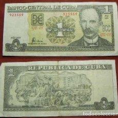 Billetes extranjeros: BILLETE DE CUBA 1 PESO 2004 CIRCULADO. Lote 288747838