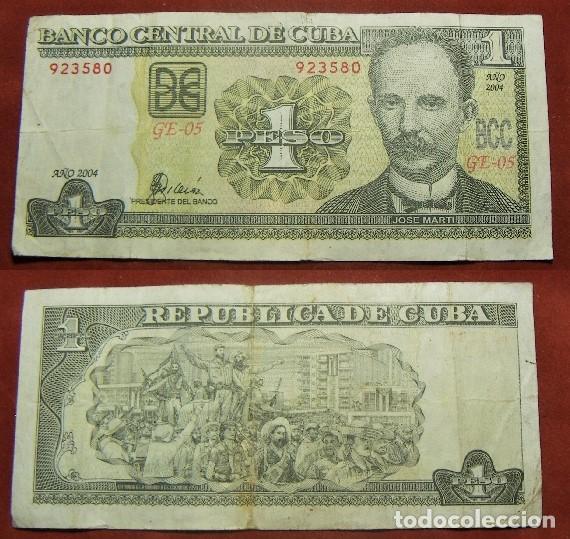 BILLETE DE CUBA 1 PESO 2004 CIRCULADO (Numismática - Notafilia - Billetes Internacionales)