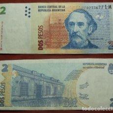 Billetes extranjeros: BILLETE DE ARGENTINA 2 PESOS CIRCULADO. Lote 288748563