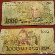 Billetes extranjeros: BILLETE DE BRASIL 1000 CRUZEIROS CIRCULADO. Lote 288748643