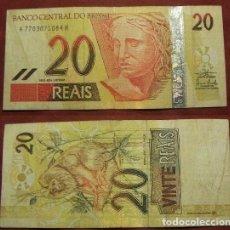 Billetes extranjeros: BILLETE DE BRASIL 20 REALES CIRCULADO. Lote 288748758