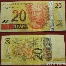 Billetes extranjeros: BILLETE DE BRASIL 20 REALES CIRCULADO. Lote 288748768