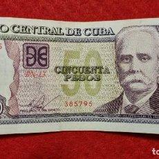 Billetes extranjeros: BILLETE CUBA 50 PESOS 2015 MBC+ ORIGINAL T795. Lote 288950383