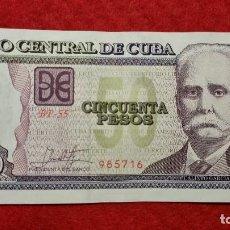 Billetes extranjeros: BILLETE CUBA 50 PESOS 2016 MBC+ ORIGINAL T716. Lote 288950993