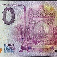 Billetes extranjeros: BILLETE 0 EURO SOUVENIR 0 € DE FRANCIA: UEFA 2016-1 NANCY - PLACE STANISLAS ET ART NOUVEAU. Lote 288951148