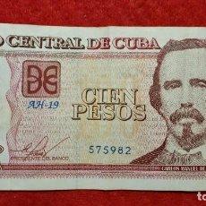 Billetes extranjeros: BILLETE CUBA 100 PESOS 2014 MBC ORIGINAL T982. Lote 288951833