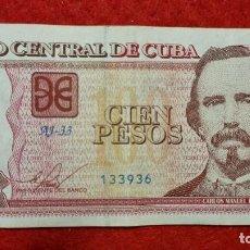 Billetes extranjeros: BILLETE CUBA 100 PESOS 2016 MBC ORIGINAL T936. Lote 288951968