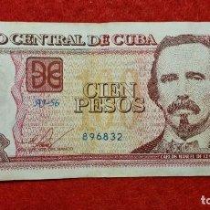 Billetes extranjeros: BILLETE CUBA 100 PESOS 2016 MBC ORIGINAL T832. Lote 288952243