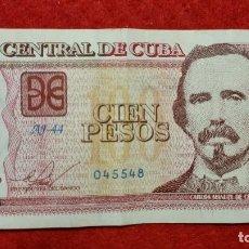 Billetes extranjeros: BILLETE CUBA 100 PESOS 2016 MBC ORIGINAL T548. Lote 288952333