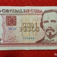 Billetes extranjeros: BILLETE CUBA 100 PESOS 2017 MBC ORIGINAL T646. Lote 288952423