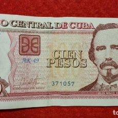 Billetes extranjeros: BILLETE CUBA 100 PESOS 2017 MBC+ ORIGINAL T057. Lote 288952708