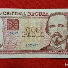 Billetes extranjeros: BILLETE CUBA 100 PESOS 2017 MBC+ ORIGINAL T588. Lote 288952793