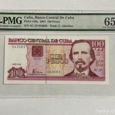 Billetes extranjeros: BILLETE. CUBA. BANCO CENTRAL DE CUBA. 100 PESOS. AÑO 2004. VER FOTOS. Lote 289255153