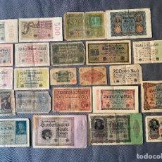 Billetes extranjeros: GRAN LOTE DE BILLETES ANTIGUOS ALEMANES , ALEMANIA. Lote 289809088