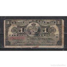 Billetes extranjeros: CUBA 1958 UN PESO - BEAUTIFUL NUMBER 0839999 1 PESO KM# G. Lote 289948623