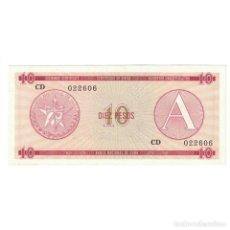 Billetes extranjeros: CUBA 1985 DIEZ PESO - CERTIFICATE A 10 PESO KM# AUNC. Lote 289950403