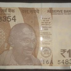 Billetes extranjeros: INDIA 10 RUPEES 2019 16A 548354. Lote 290135543