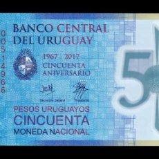 Banconote internazionali: URUGUAY 100 PESOS URUGUAYOS 2017 PICK 100 POLÍMERO SERIE A SC UNC. Lote 290919158