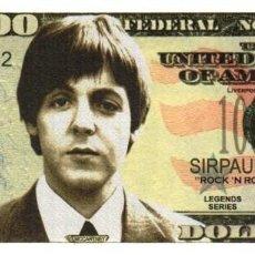 Billetes extranjeros: BILLETE DE USA DE PAUL MCCARTNEY EN PERFECTO ESTADO. Lote 292509898
