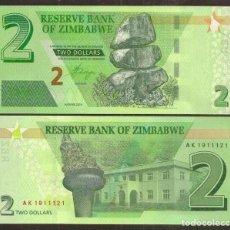 Billetes extranjeros: ZIMBABWE. 2 DOLLARS 2019. S/C.. Lote 293895383