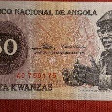 Billetes extranjeros: 50 KWANZAS, ANGOLA. 1976. (PICK.110).. Lote 295335353