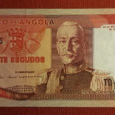 Billetes extranjeros: 20 ESCUDOS, ANGOLA. 1972. (PICK.99).. Lote 295336098