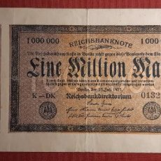 Billetes extranjeros: 1.000.000 MARCOS, ALEMANIA. 1923. (PICK.93).. Lote 295337903