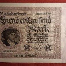 Billetes extranjeros: 100.000 MARCOS, ALEMANIA. 1923. (PICK.83).. Lote 295338118