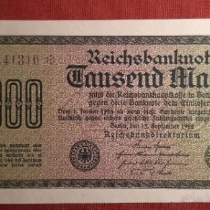 Billetes extranjeros: 1000 MARCOS, ALEMANIA. 1922. (PICK.76D).. Lote 295341243