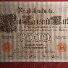 Billetes extranjeros: 1000 MARCOS, ALEMANIA. 1910. (PICK.44B).. Lote 295341613