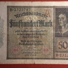 Billetes extranjeros: 500 MARCOS, ALEMANIA. 1922. (PICK.73).. Lote 295341903