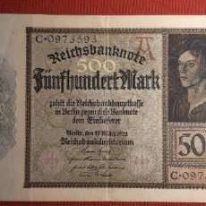 Billetes extranjeros: 500 MARCOS, ALEMANIA. 1922. (PICK.73).. Lote 295342113