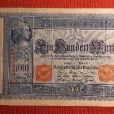 Billetes extranjeros: 100 MARCOS, ALEMANIA. 1910. (PICK.44B).. Lote 295343043