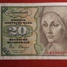 Billetes extranjeros: 20 MARCOS, ALEMANIA. 1980. (PICK.32D).. Lote 295344448