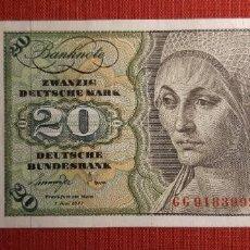 Billetes extranjeros: 20 MARCOS, ALEMANIA. 1977. (PICK.32B).. Lote 295344753