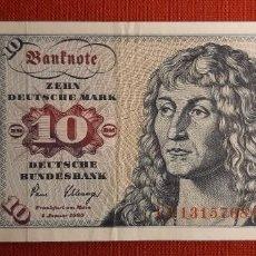 Billetes extranjeros: 10 MARCOS, ALEMANIA. 1980. (PICK.31D).. Lote 295345298