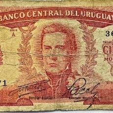Billetes extranjeros: URUGUAY - 100 PESOS (ND1967) - SERIE A 36135771 - PICK#47 - B. Lote 295379368