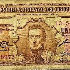 Billetes extranjeros: URUGUAY - 1 PESO - LEY 2-1-1939 - C 13158973 - PICK#35B - MB. Lote 295379698
