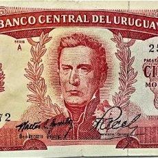 Billetes extranjeros: URUGUAY - 100 PESOS (ND1967) - SERIE A 25359072 - PICK#47 - MB. Lote 295380068