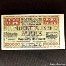 Billetes extranjeros: ⚜️ 100000 MARK 1923. MUNICH. ALEMANIA. B02. Lote 295381473