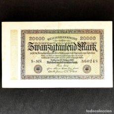 Billetes extranjeros: ⚜️ 20000 MARK 1923. BERLÍN. ALEMANIA. B05. Lote 295381553
