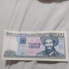 Billetes extranjeros: 20 PESOS CUBA 2015. Lote 295385323
