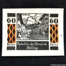Billetes extranjeros: ⚜️ SIN CIRCULAR MENOS. 60 HELLER 1920. NOTGELD. GOLLING. AUSTRIA. B06. Lote 295384023