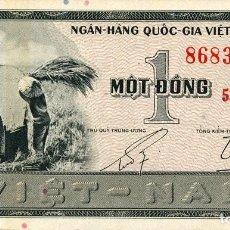 Notas Internacionais: VIETNAM SUR 1 DONG 1955 PICK 11A S/C UNC. Lote 295481278