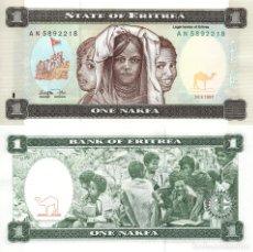 Billetes extranjeros: ERITREA. 1 NAKFA. 1997. P-1. SC. Lote 295515398